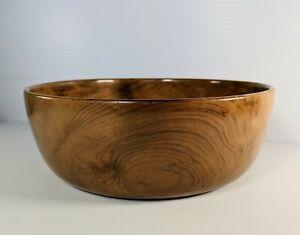 Vintage Myrtlewood Wooden Serving Bowl Side Dish Depoe Bay Oregon MCM Boho