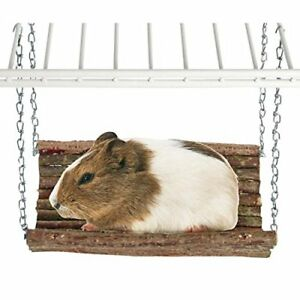 Rody-Swing-Wooden-Hammock-Toy-Natural-Shelf-Hideaway-for-Rabbits-Guinea-Pigs-Rat
