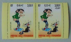 France année 2001 P3371A neuf luxe ** fête du timbre provenant de carnet Gaston