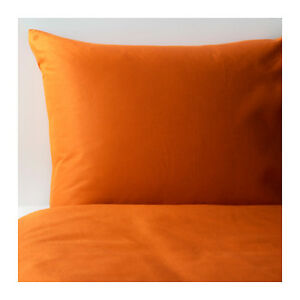 Ikea Dvala Orange King Size Duvet Cover 4x Pillowcases Ebay
