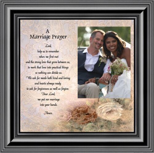 Marriage Prayer, Christian Marriage Gift, Framed Wedding Gift, 10X10 6757B