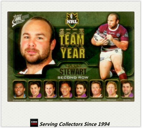 2009 Select NRL Classic Team Of The Year Card TY7 Glenn Stewart Manly