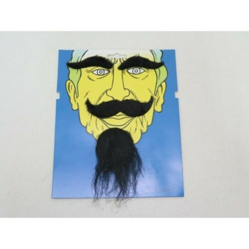 Eyebrow Set Samurai Oriental Fancy Dress New Chinese Black Moustache Beard
