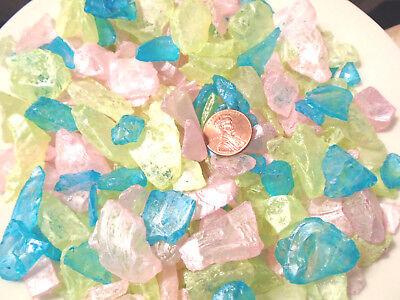 4oz Pink Lime Blue Pearled Sea Glass Vase Filler Crafts Mosaics