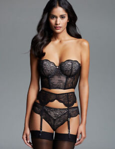 4e6a75a87 New Sexy Lady 3 Piece Lace Bra Garter Set Lingerie Underwear Sizes 8 ...