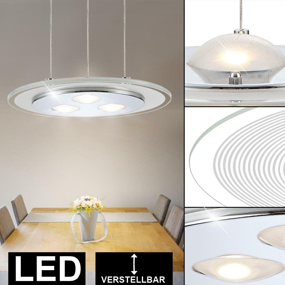 LED Pendel Leuchte Decken Beleuchtung Glas Hänge Lampe Wohn Ess Zimmer Küche