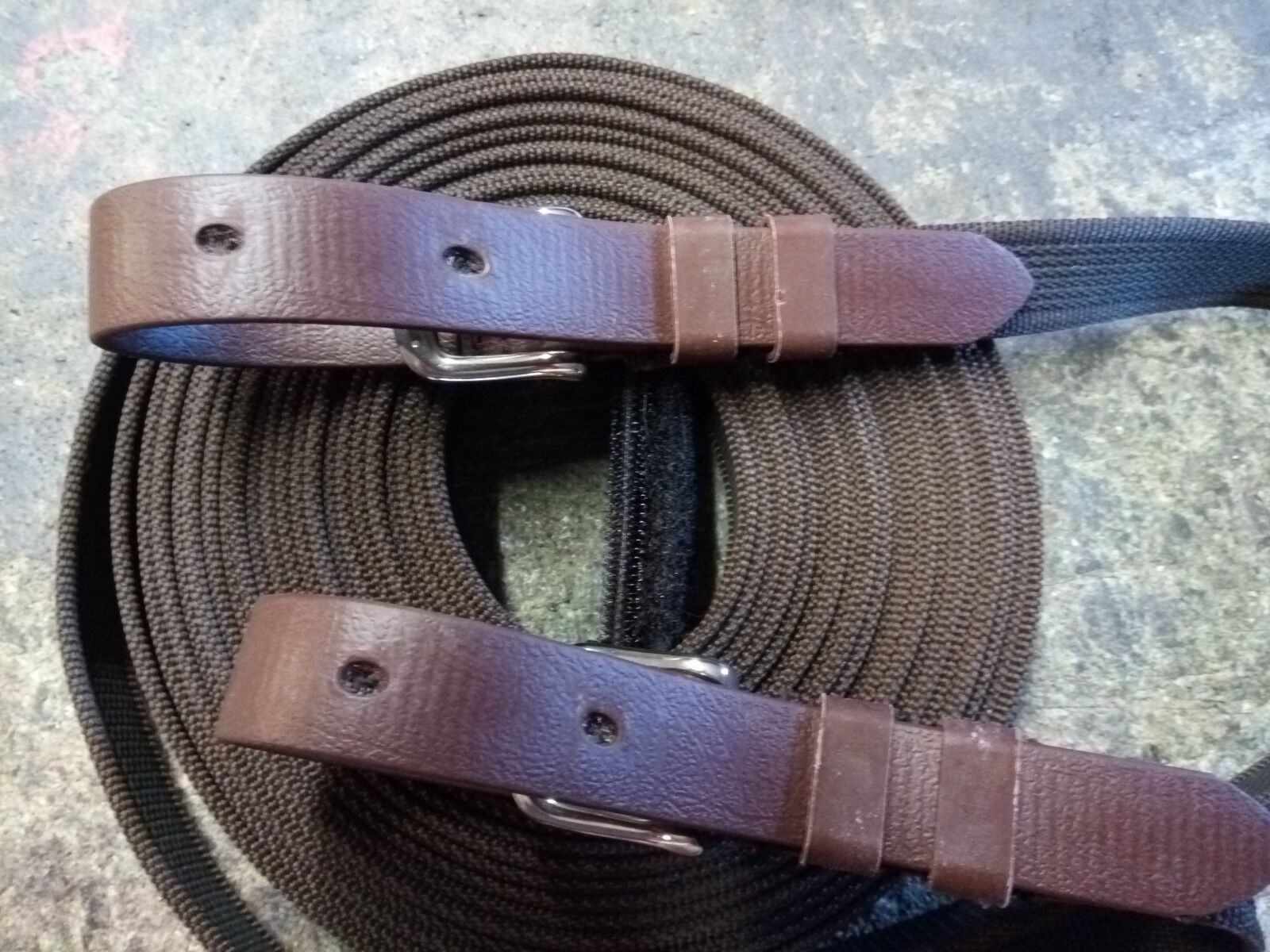 DRIVING REINS FOR PAIRS. ALL SIZES SUPER. GRIP STAINLESS STEEL PLAS EQUESTRIAN