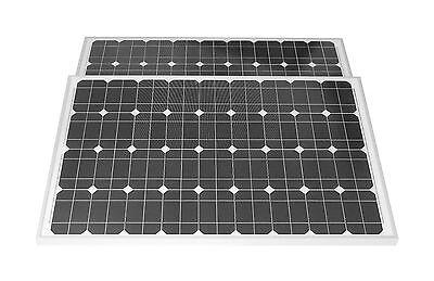 2 Stück 100 W Solarpanel Solarmodul  Solarzelle 2 Stck.100 WATT MONO TÜV Zert.