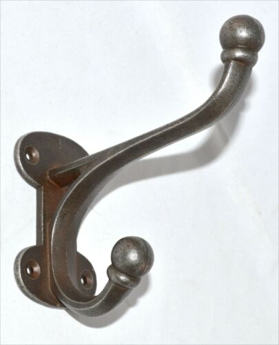 CAST IRON HALL STAND HAT /& COAT HOOK ANTIQUE IRON LARGE Antique  Repro Heavy