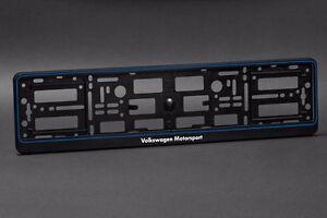 2-x-Volkswagen-Motorsport-Euro-License-Number-Plate-Frame-Holder