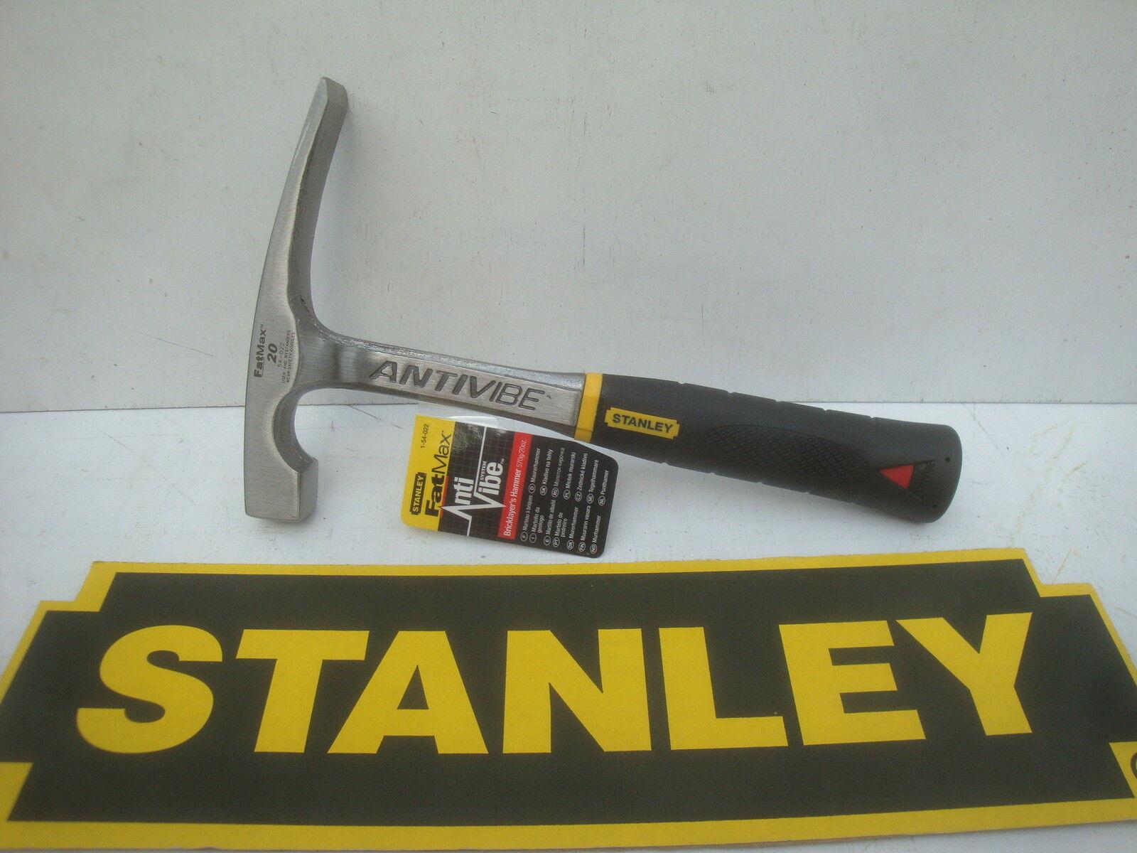 Stanley 1-54-022 FatMax AntiVibe Brick Hammer 20 oz