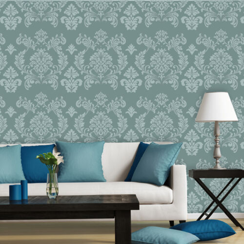 Large Wall Damask Stencils Danielle Reusable Allover Pattern for DIY Wall decor