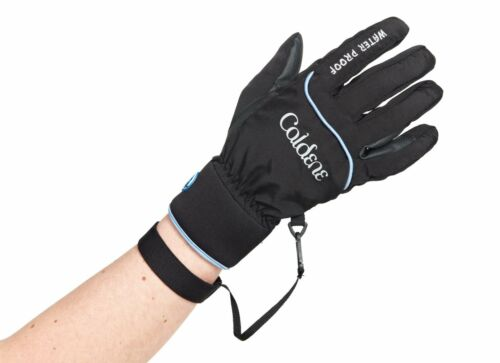 Caldene Waterproof Horse Riding Glove, Black, Gloves, cg003