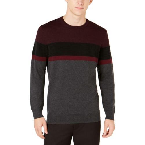 Alfani Gray Cotton Blend Long Sleeve Mock Neck Pullover Shirt 3XLT Big /& Tall
