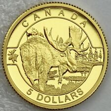 "Canada 2014 $5 The Moose 1/10 oz .9999 Pure Gold Proof Coin ""O Canada"" Series #2"