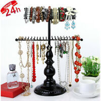 Hanging Jewelry Organizer Stand Vintage Necklace Holder Tree Storage Bracelet
