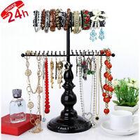 Hanging Jewelry Organizer Stand Vintage Necklace Holder Tree Storage Bracelet