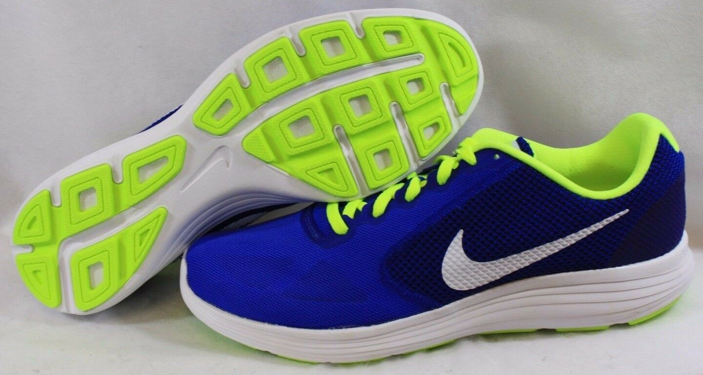 NEW Mens NIKE Revolution 3 819300 403 Blue Green White Sneakers Shoes