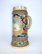 Bierkrug Krug um 1900 Gruß aus Mügeln