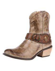 Roper Dames Mae 09 1557 Tan Westernlaarzen Ta Shorty 2053 Leather 021 U5qUTrw