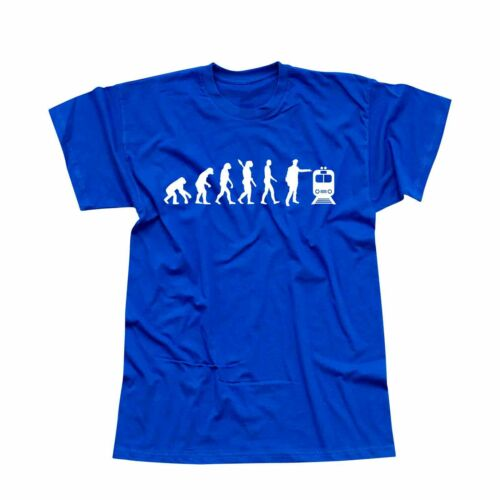 T-shirt Evolution Schaffner train locomotive train chemin de fer Ice 13 Couleurs Hommes Xs 5xl