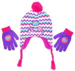 688f3061056 MY LITTLE PONY Knit Peruvian Winter Hat   Gloves Set w  Pom-Pom ...