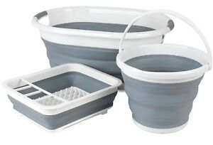 BELDRAY-COLLAPSIBLE-FOLDING-DISH-DRAINER-RACK-LAUNDRY-CLOTH-BASKET-WATER-BUCKET