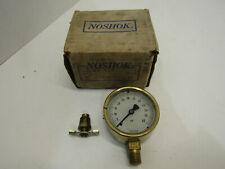 Nib Old Noshok Pressure Gauge Brass Cage 25 300 0 60 Psi