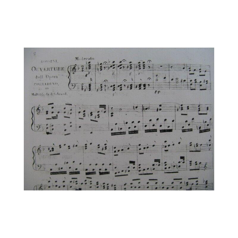 ROSSINI G. Matilde di Shabran Opera Piano solo XIXe partition sheet music score