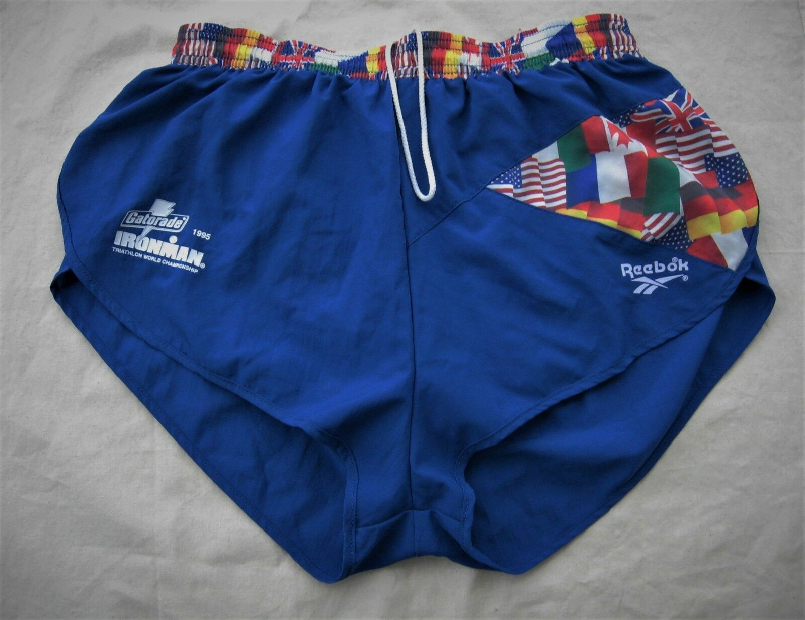 Vintage reebok shorts ironman triathlon World Championship 1995 Gatorade  running  barato