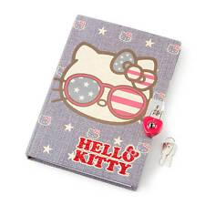 Hello Kitty Americana Lock Diary Star Stripes Red White Blue Patriotic Nwt