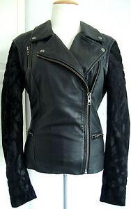 Lederjacke 36 M0622 Gohana Damen Neu Jacket Gr Muubaa Leather Etikett Bikerjacke xRa8qw8Yp