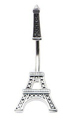 Belly Button Ring 14g 7/16 In and Out Eiffel Tower Navel