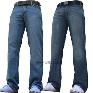 Jeans All Trousers Waist Bnwt Straight New Mens Pants Classic Wide qFH6EOx