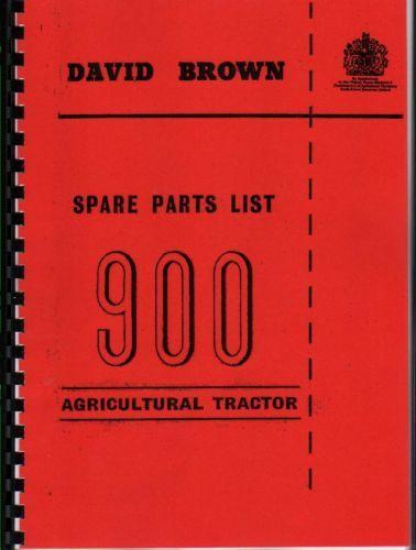 "David Brown /""900/"" Illustrated Tractor Parts Book Manual"