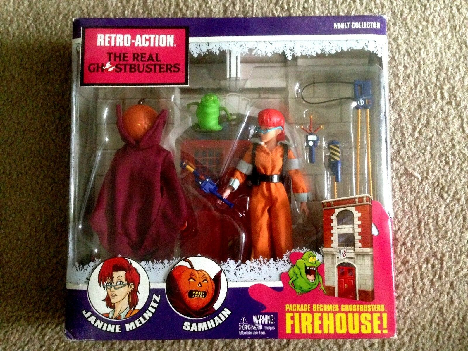 The Real GHOSTBUSTERS Firehouse Mattel Retro-Action Playset NIB Free Shipping