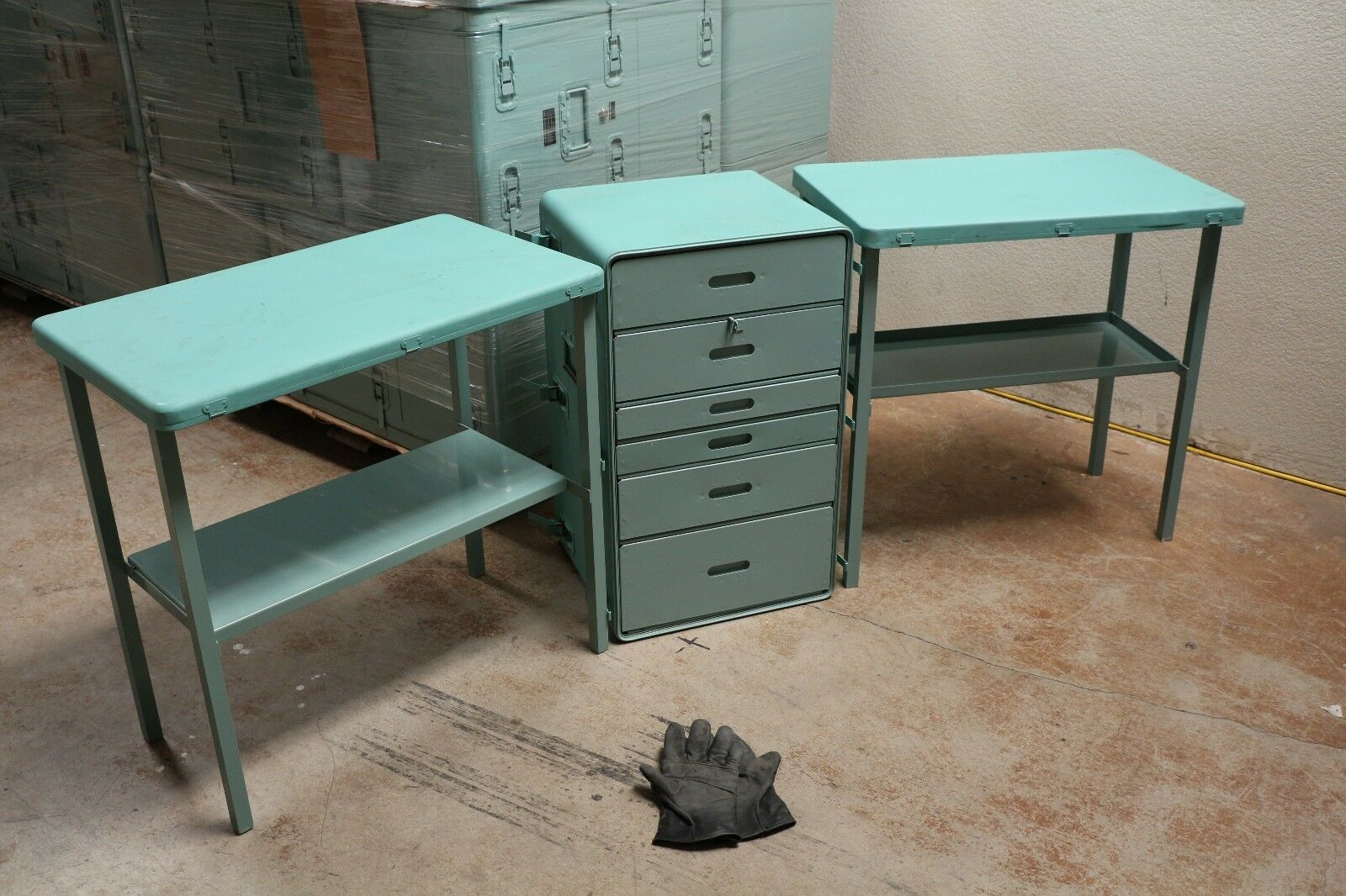 Outdoors Drawer stand and Two  Tables Congreens to Chest 30x18x19  Aluminum Used  sale online