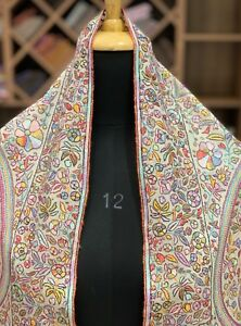 31d23dcb0 Image is loading Papier-Mache-Hand-Embroidered-Pure-Pashmina-Shawl-Kashmiri-