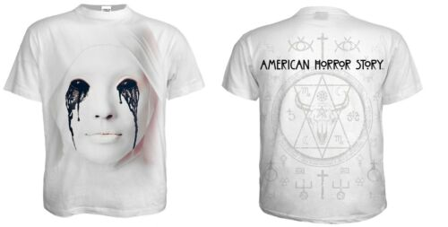 OFFICIAL LICENSED SPIRAL AMERICAN HORROR STORY T-SHIRTS//COVEN//ASYLUM//NUN////TOP