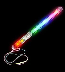 6-Light-Up-Strobe-Sticks-Flashing-Patrol-Wands-LED-Glow-Blinking-Rave-Party-EDC