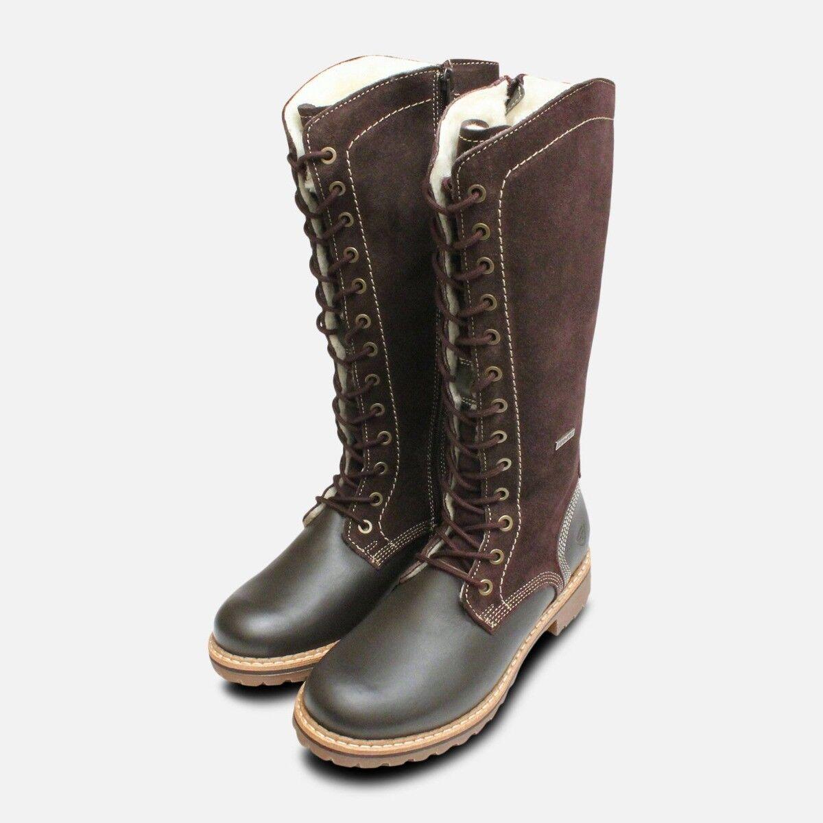 Tamaris marrón Long botas with Duo Tex Membrane