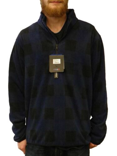 Hawke /& Co Mens Quarter Zip Fleece Plaid Pullover