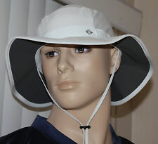 Columbia Unisex White/Blue Print Mesh Coolhead Booney Hat Sz OS **