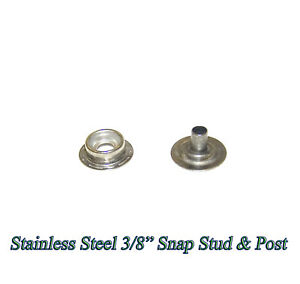 Stainless Steel Stud and Eyelet Snap Fastener Kit 50 sets