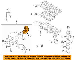 kia oem 01 05 rio air cleaner intake hose duct tube 0k32a13202 ebay rh ebay com
