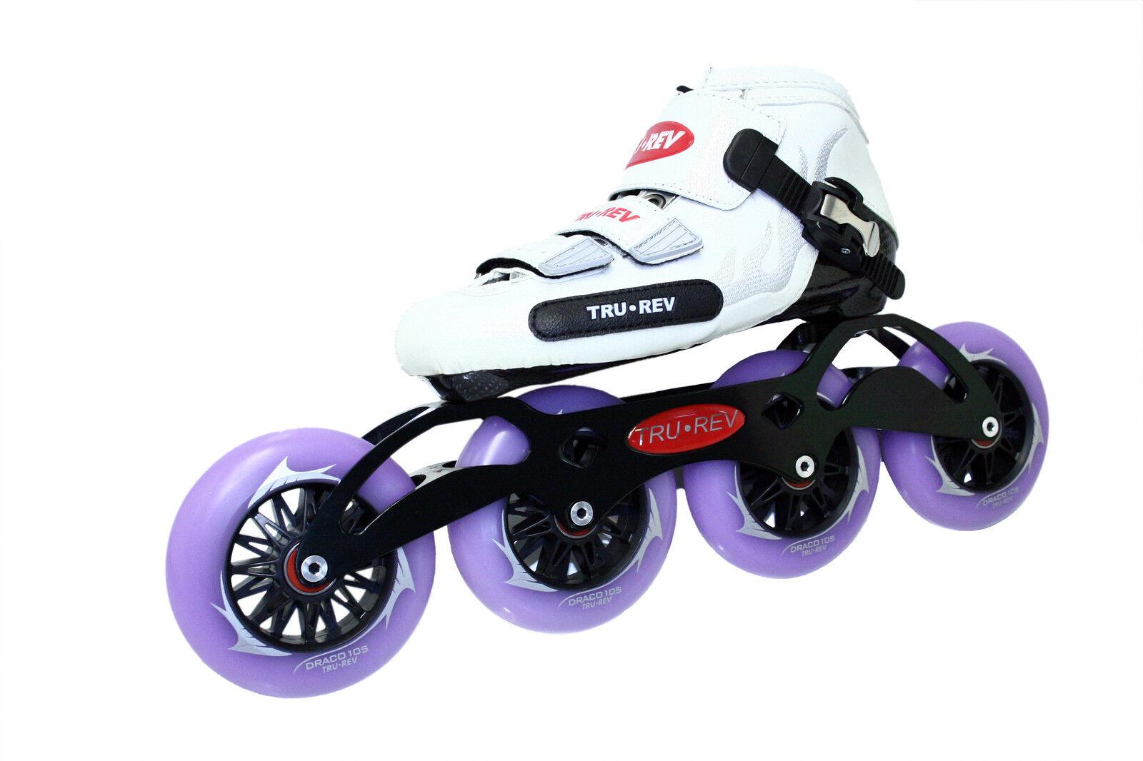 Inline Speed Skate by Trurev. 105mm wheels, ceramic bearings. SIZE 7.5