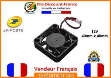 Ventilateur Fan 12V 40mm x 40mm 3D printer Imprimante Ordinateur JST 2 pins
