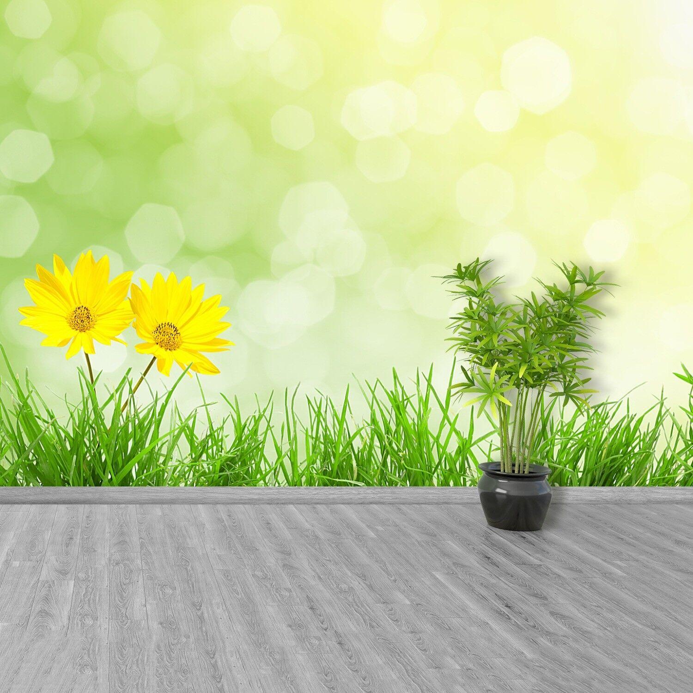 Fototapete Selbstklebend Einfach ablösbar Mehrfach klebbar Blumen Gras