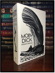 Moby Dick Illustrated by R Bishop New Deluxe Cloth Bound Hardback Collectible
