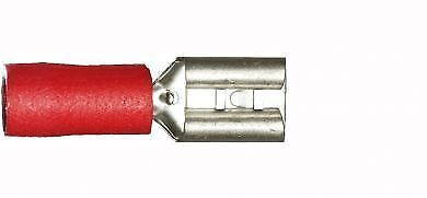 Pack of 10 Red Female 4.8mm Spade Connector Crimp Terminals Electrical Wiring